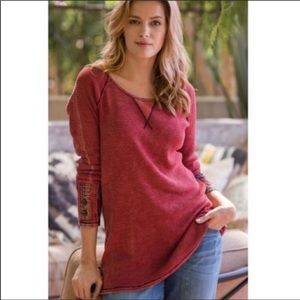 Soft Surroundings Thermal Boho Tunic Tee Small